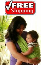 GREEN Infant Newborn Baby Carrier Sling Wrap Cradle Pouch FREE SHIPPING NEW!