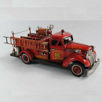 Hand Made Antique Fire Engine Model 1:24-SCALE for Home Art Deco Sculpture Deal