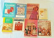 8 Dolls Dollhouses Miniatures Books Magazine Catalog Lot Building Plans