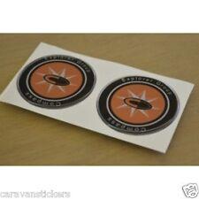 COMPASS - (RESIN DOMED) - Caravan Wheelcap Badge Stickers Decals Graphics - PAIR