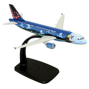 Rare Airplane Brussels Airlines Airbus A320 Magritte Art OO-SNC Lupa 1:200