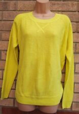 TOPSHOP BRIGHT YELLOW LONG SLEEVE KNIT KNITTED BAGGY JUMPER CARDIGAN 8 S