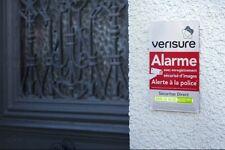 Plaque DISSUASIVE alarme VERISURE 25X15cm en plexi NEUVE