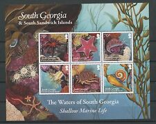 (W0460) SOUTH GEORGIA, MARINE LIFE 2011, BLOCK, UM/MNH, SEE SCAN