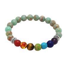 Chakra Bracelet BEIGE with 7 Gemstones by ZILA COMPANY, Stone Crystal Healing