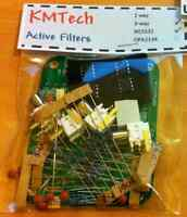 NEW ! Linkwitz-Riley OPA2134 3-way active filter by KMTech DIY KIT.