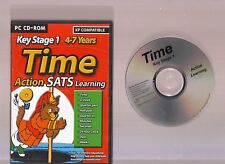ACTION SATS LEARNING KEY STAGE 1 4-7 YEARS TIME SOFTWARE FOR THE PC!!