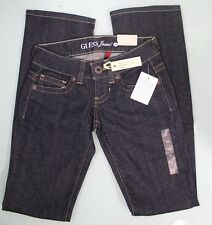 GUESS JEANS  NEW WOMENS SZ 23 RG Denim,boot cut  Inseam 33,Dark Blue Authentic