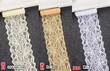 1 yards, Flower Stretch Lace Trim Ribbon Sewing Dress Skirt DIY Handicraft FL108