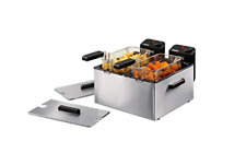 FRITEUSE DOUBLE BAC - 6 LITRES - 4000 WATTS