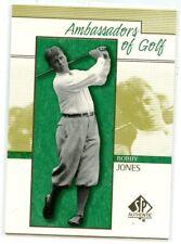 Bobby Jones 2001 Upper Deck SP Authentic Golf Ambassadors of Golf #135