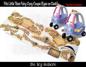 Fairy Coupe Decals Replacement Stickers fits Little Tikes Tykes Cozy coupe 30th