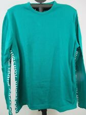 Burberry London Men's T-shirt L/S Green Cotton Blend Made In Italy Size L