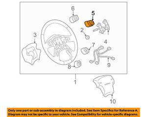 2003-2007 HUMMER H2 STEERING WHEEL SEEK VOLUME CONTROL NEW GM #  1999443
