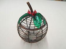 New listing Avon Apple Pie Potpourri Holder Only - Coppery Look Metal 2006 Leaves & Berries