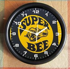 DODGE SUPER BEE SUPERBEE LOGO YELLOW 10 Inch Wall clock  New Licensed