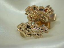 Car Gold Tone Cuff Links 6S Super X Neat-O Vintage 1960's Old Fashioned