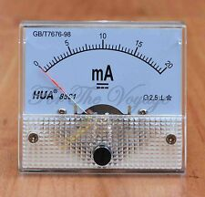 0- 20mA DC Ammeter Amp Current Panel Meter  Analogue Analog Clear NEW