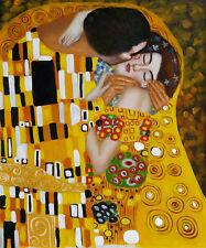"Repro 20""x24"" Hand Painted Oil Paintings Gustav Klimt - The Kiss"