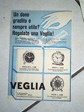 PUBBLICITA FOGLIO RIVISTA SVEGLIE VEGLIA BORLETTI mod: CADILLAC ERICA FELCE rara