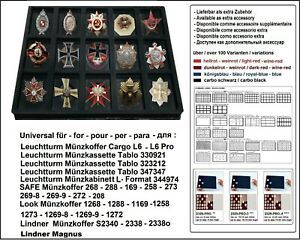 LOOK 12336-15 Münztableaus Schwarz 15 Fächer 62x52x10 mm Für Orden Militaria