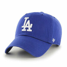 02d05a1cb7d7d9 Los Angeles Dodgers 47 Brand Clean Up Strap Adjustable Field Blue Hat Cap  MLB