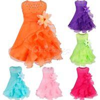 Kids Girl Party Princess Flower Formal Wedding Bridesmaid Prom Christening Dress