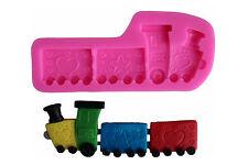 Silikonform Baby Zug Lokomotive Ausstechform Fondant Tortendeko Kuchen Backen