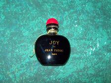 Vintage Antique Mini JOY de Jean Patou Paris Black Art Deco Glass Perfume Bottle