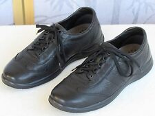 10.5 | Mephisto Runoff Men Black Pebbled Leather Casual Lace-Up Oxford Shoe