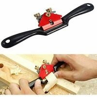Accessbuy 9'' Adjustable SpokeShave with Flat Base and Metal Blade for Wood