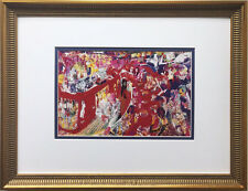 "LeRoy Neiman ""21 Club Bar"" Newly Custom FRAMED ART PRINT Manhattan NYC New York"