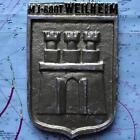 MJ Boot Weilheim German Navy Ship Metal Tampion Plaque Crest