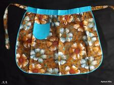 Vintage Unused & Unworn Cotton Half Apron Pinny Shabby Chic Floral Flowers Retro