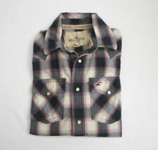 Hollister Mens Western Snap Button Down Plaid Shirt Size Small