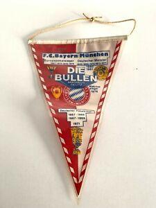 FC Bayern Munich rare fanion vintage football Die Bullen pennant wimpel Munchen