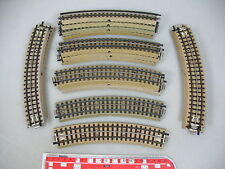 AN559-0,5# 17x Märklin/Marklin H0/00/AC Track piece (m track bent) for 3600/800