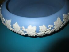 VTG JASPERWARE Console Bowl CACHE POT ECANADA Signed BLUE White GRAPE LEAF VINE!