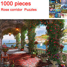 1000 Pieces Jigsaw Puzzles Educational Toys Rose corridor Educational Puzzle DIY