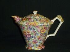 More details for rare old foley teapot.  new.  warehouse find