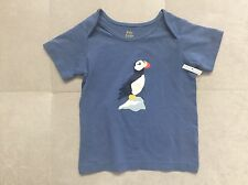 New Boy Baby Boden Shirt Size 18-24 Month With Bird Blue