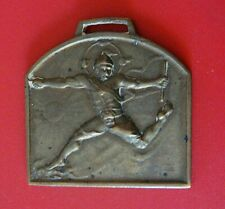 Vintage Brass Sports Theme Watch Fob From JAPAN: Track & Field Games Related