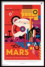 (FRAMED) NASA VISIT MARS TRAVEL POSTER 96x66cm ART PRINT PICTURE BRAND NEW SPACE