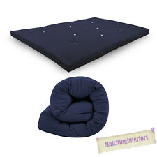 All Sizes Replacement Futon Mattress 9 Colours FREEPOST Navy Blue 2 Seater Double