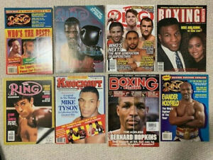 BOXING LOT OF 8 VINTAGE MAGAZINES     GREAT CONDITION     TYSON+SPINKS+HOLYFIELD
