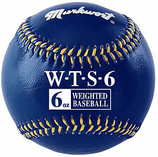 6 oz Ounce Weighted Strength Training Ball Pitcher Pitching Baseball Navy