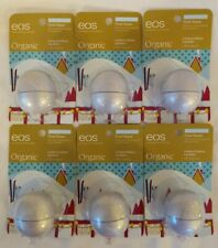 NeW! Lot of 6 eos Organic Lip Balms First Snow Limited Edition Lemongrass & Mint