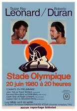 AMAZING Boxing POSTER -1980 Sugar Ray Leonard vs Roberto Duran 1 CHAMPIONSHIP