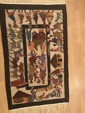 Stunning African Village Wedding Tapestry rug carpet Vintage Hand Woven Lesotho