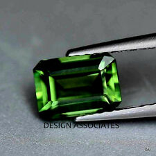 9x7 MM Emerald Cut Green Topaz